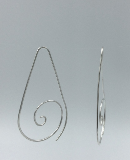 ba8c1ab09d60e spiral earrings, spiral hoops, sterling silver hoops, sterling ...