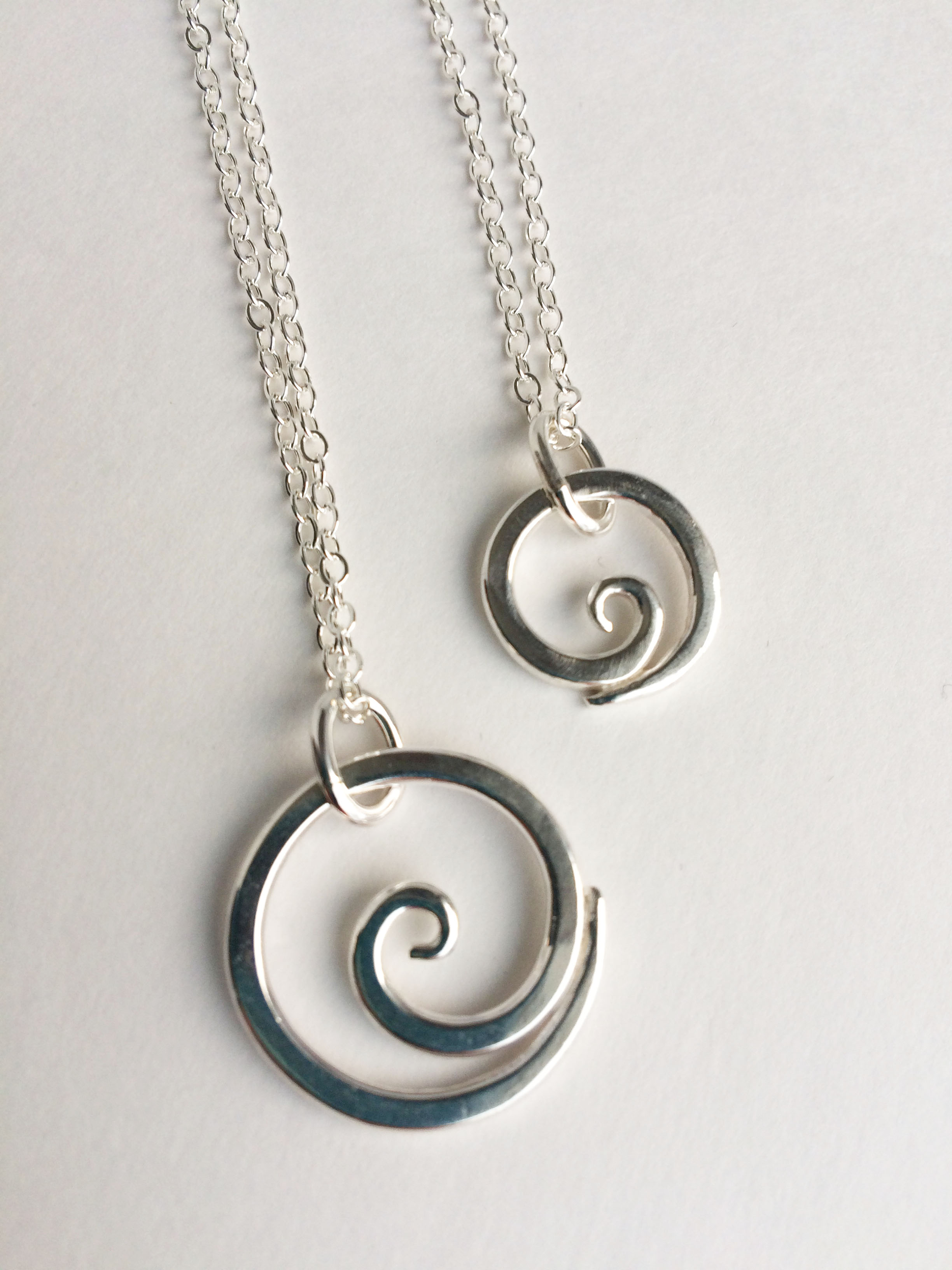 spiral gift single celtic pendant jewelry sterling product card contemporary newgrange ice model silver